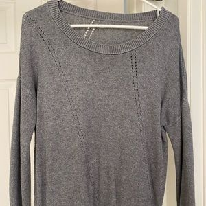 Sweaters - Gray sweater with small hole detailing